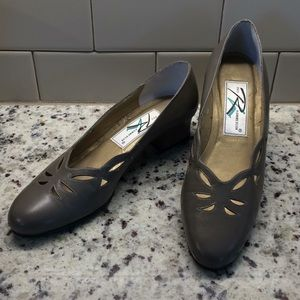 Taupe Pumps by Ros Hommerson